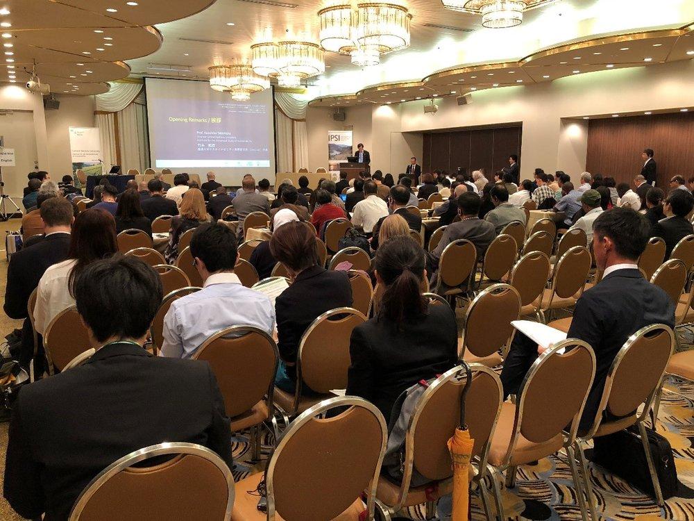 聯合國大學永續高等研究所所長竹本和彥博士在IPSI-7大會的開幕致詞