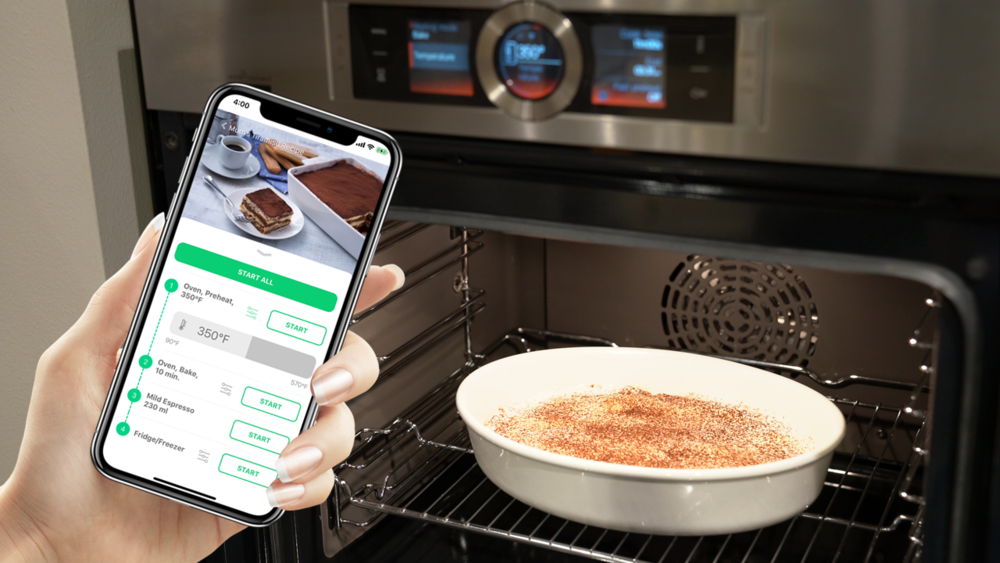 Every recipe, smarter   Connect and coordinate among multiple appliances seamlessly      App Store   Play Store