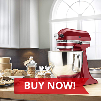 BUY NOW:  KitchenAid Artisan 5-Quart Tilt-Head Stand Mixer with Pouring Shield