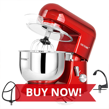 BUY NOW:  Cheftronic Tilt-head Stand 6-Speed Kitchen Electric Mixer