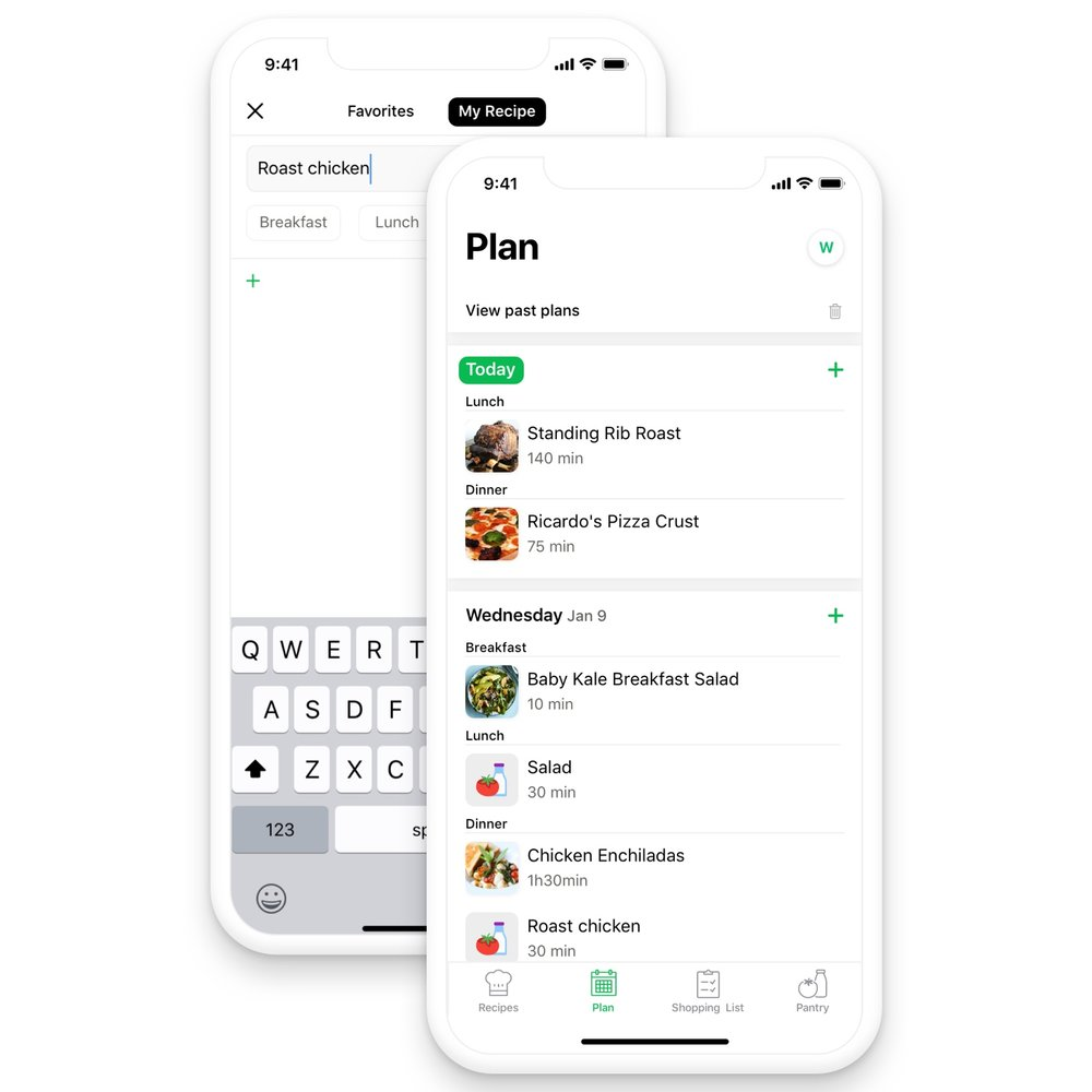 Plan, all in one place - Managing each meal for the entire family can be stressful. Chefling can help you make a plan within a few taps, so you can enjoy more worry-free time with your love ones.