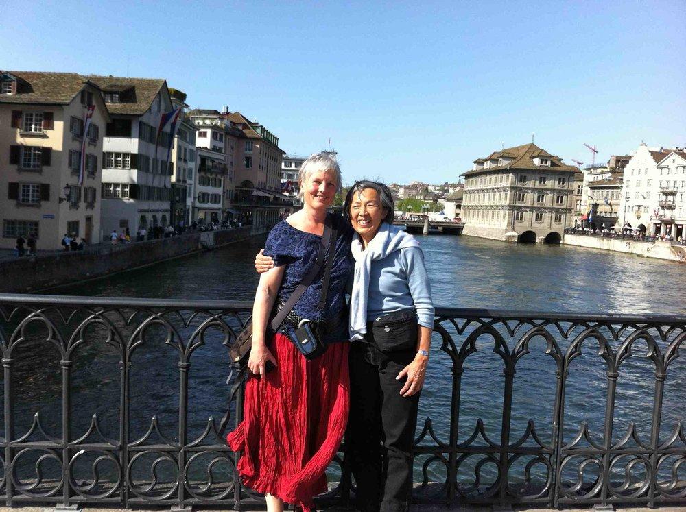 Rosmarie & I near Munsterhof Square.jpg