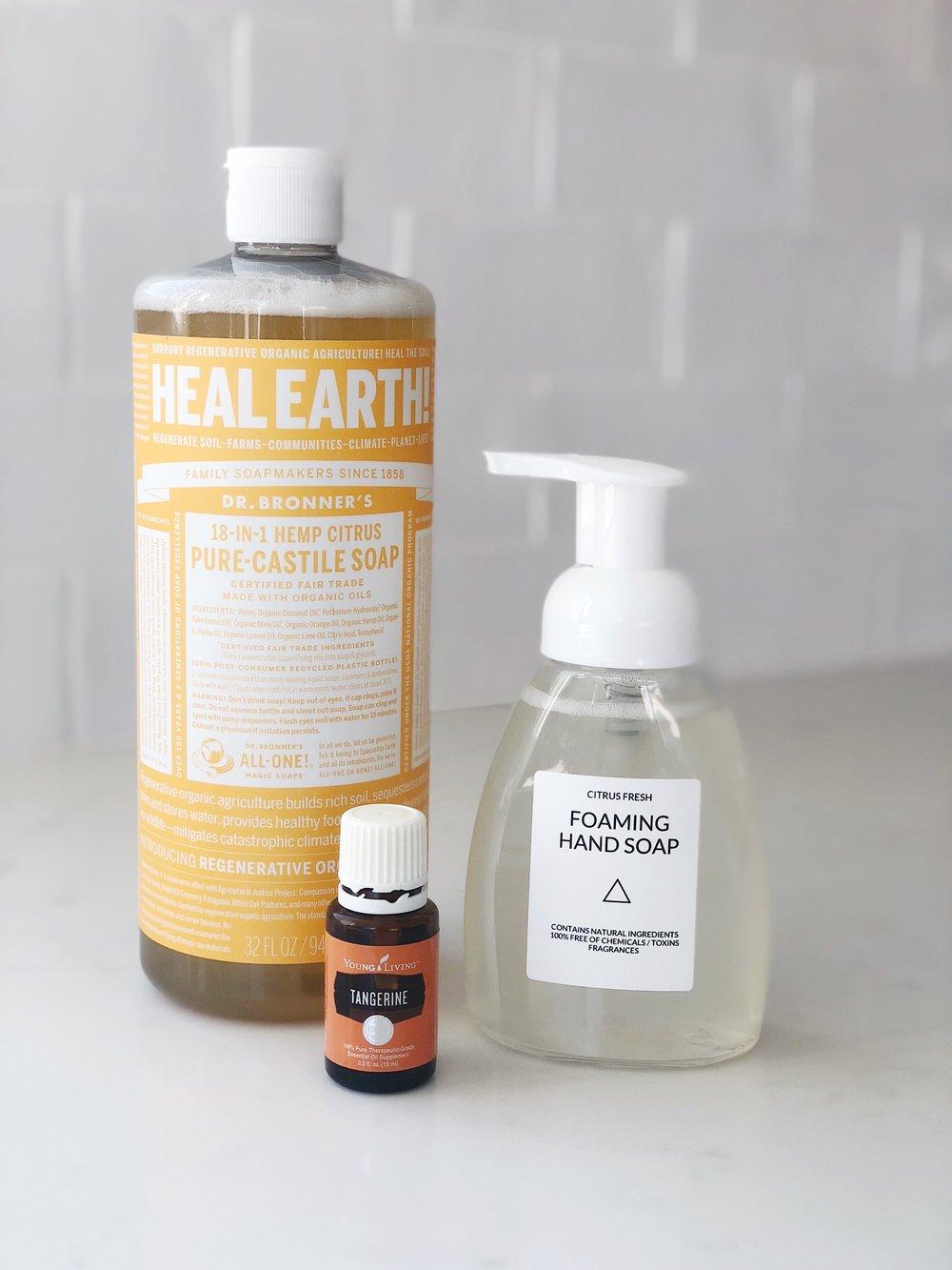 Homemade Foaming Hand Soap