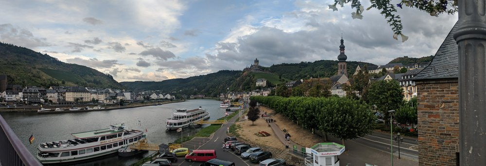 Cochem, Germany - Looking out at the Moselle River and Cochem Castle.