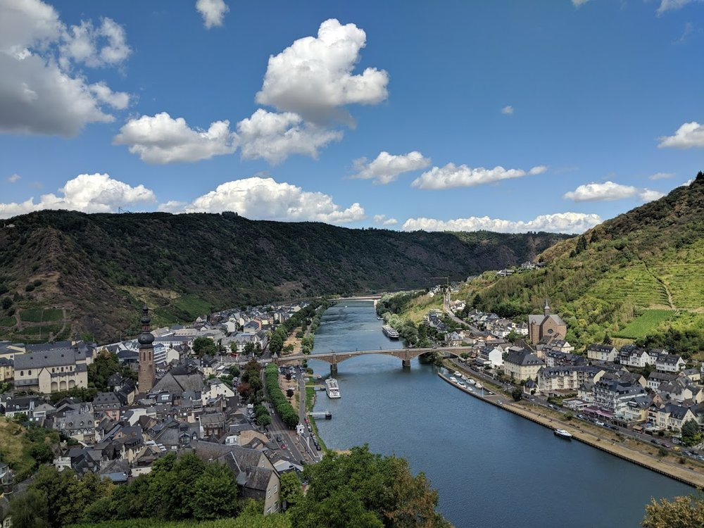 View from the top of Cochem Castle