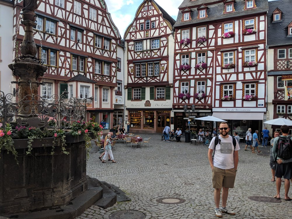 Chris in the Bernkastel Marketplace