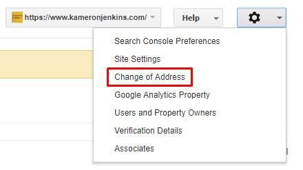 Read Google's documentation on using the Change of Address tool