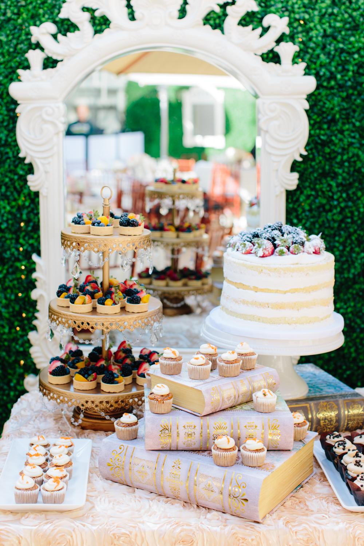 Mini Fruit Tarts, Mini Carrot Cake Cupcakes, Naked Vanilla Sponge Cake