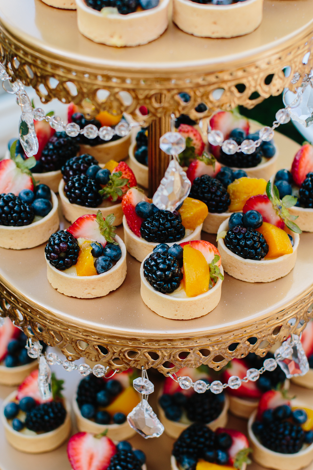 mini fruit tarts - wedding dessert table