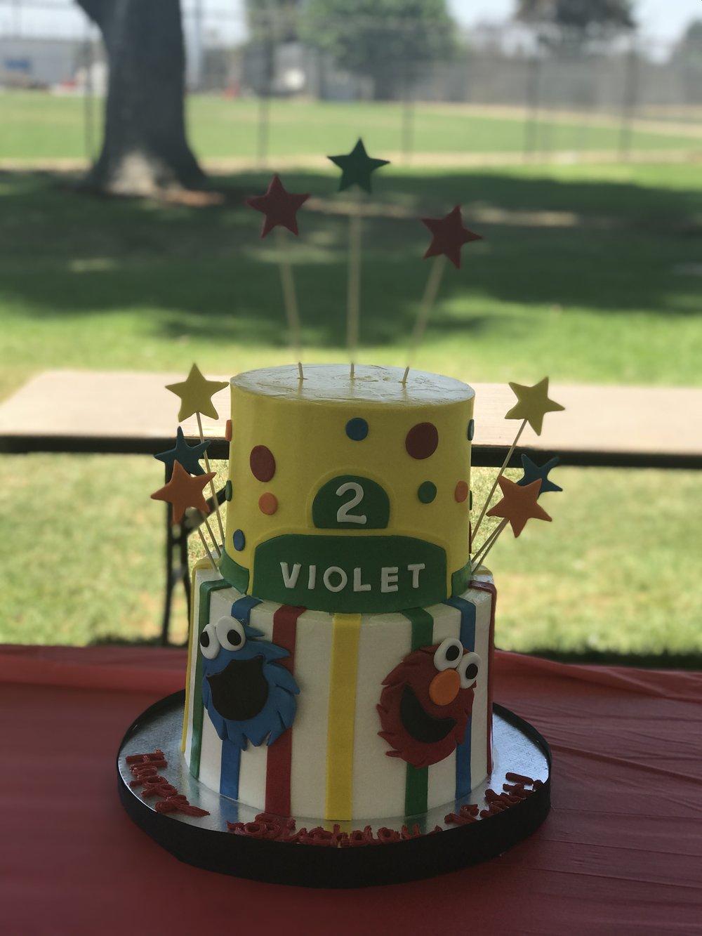 ELMO BIRTHDAY CAKE - COOKIE MONSTER BIRTHDAY CAKE - MWOKAJI CAKERY.jpg