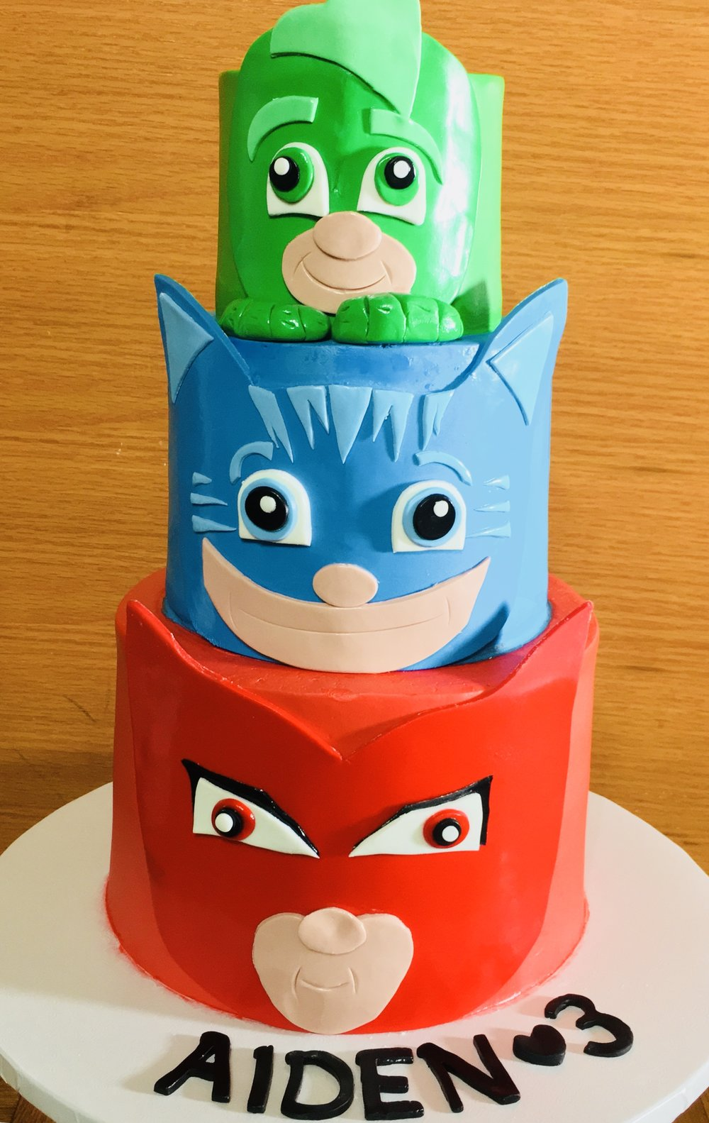 PJ Mask Birthday Cake - Mwokaji Cakery .jpg