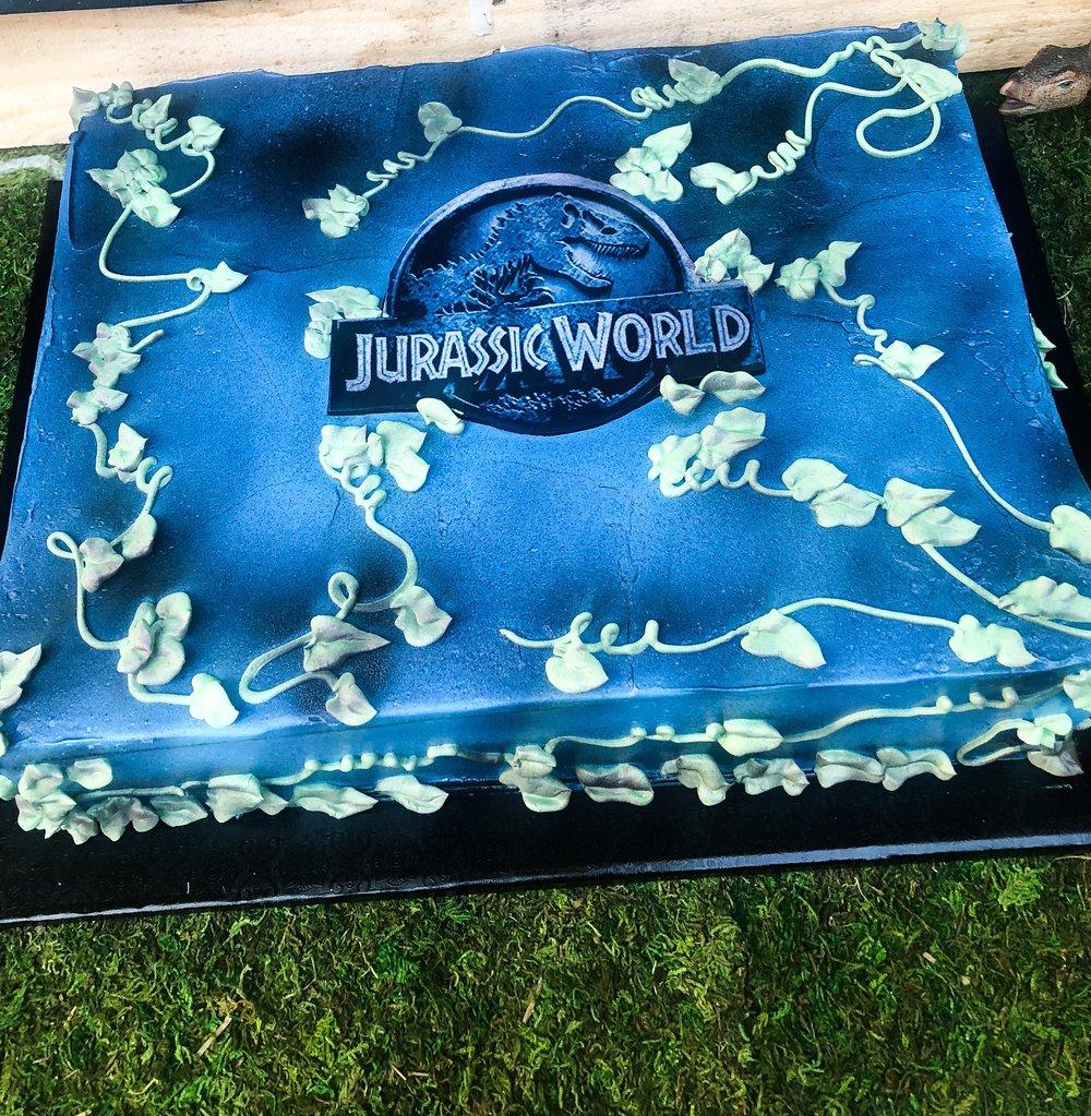 Jurassic World Birthday Sheet Cake - Mwokaji Cakery.JPEG
