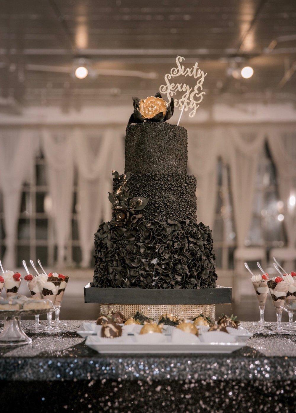 Custom Black 3-tier cake.JPG
