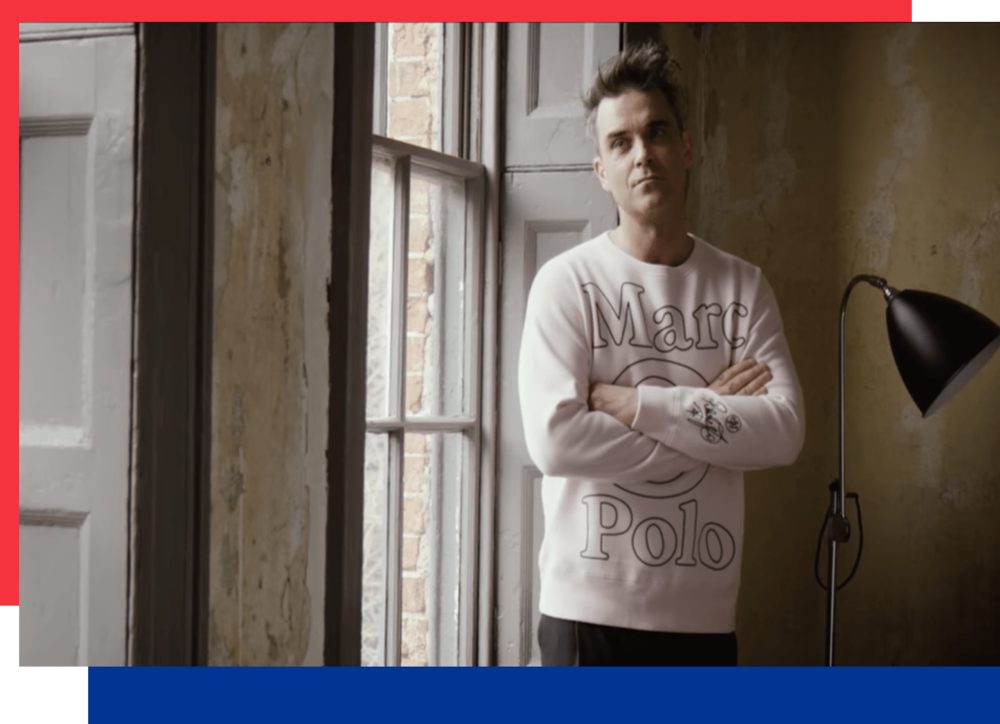 Marc O'Polo: Emotionalizing the pink sweatshirt with Robbie Williams  -