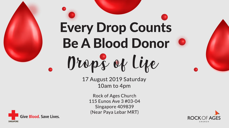 2019 Drops Of Life Blood Donation Drive Rock Of Ages Church