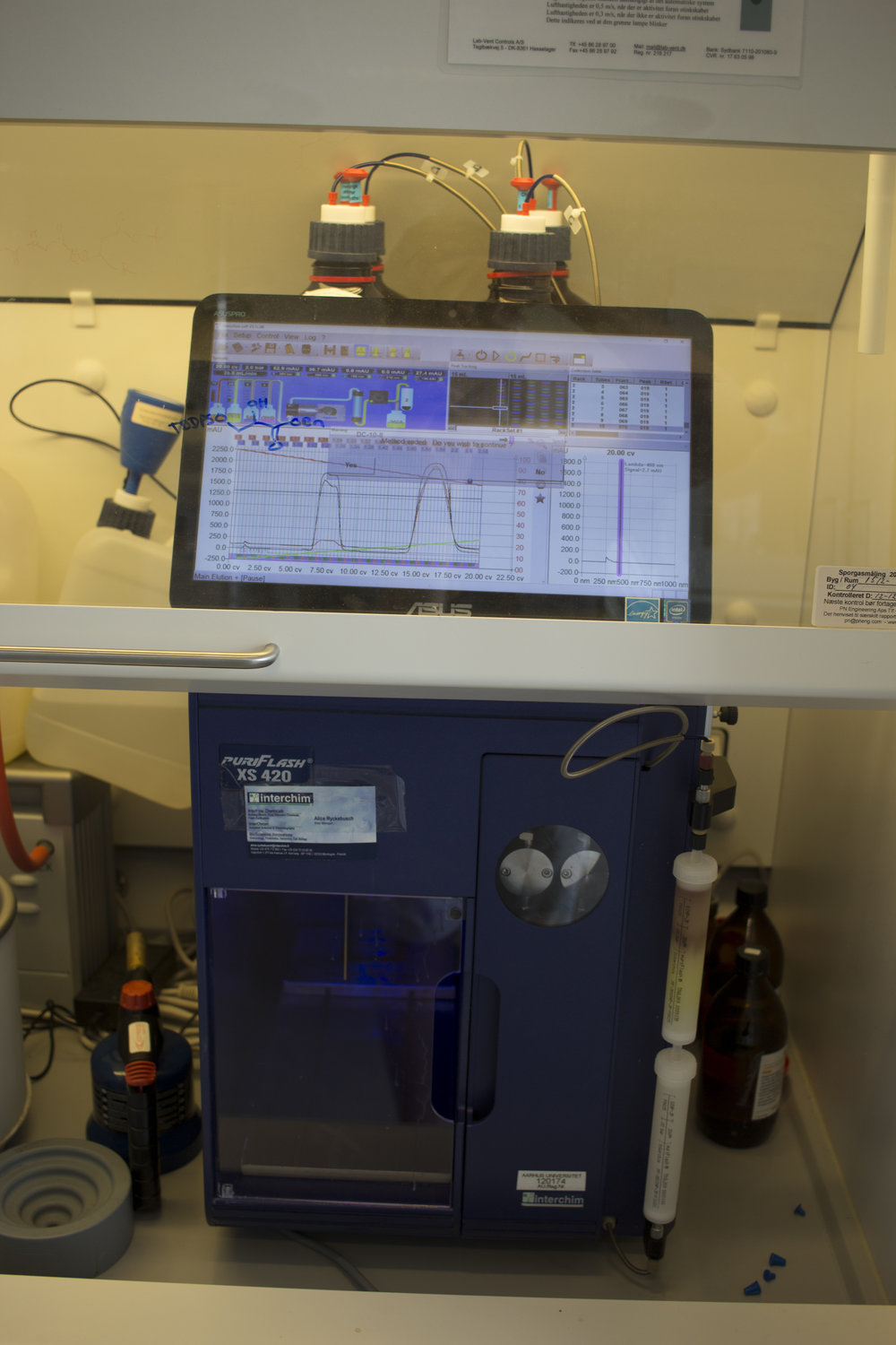 Automated flash column chromatography