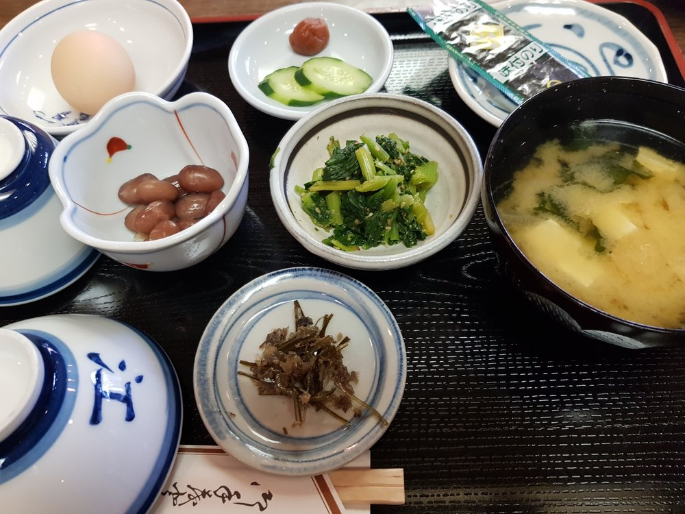 the food at tatsue-ji was meat-free, but with some fish ingredients.