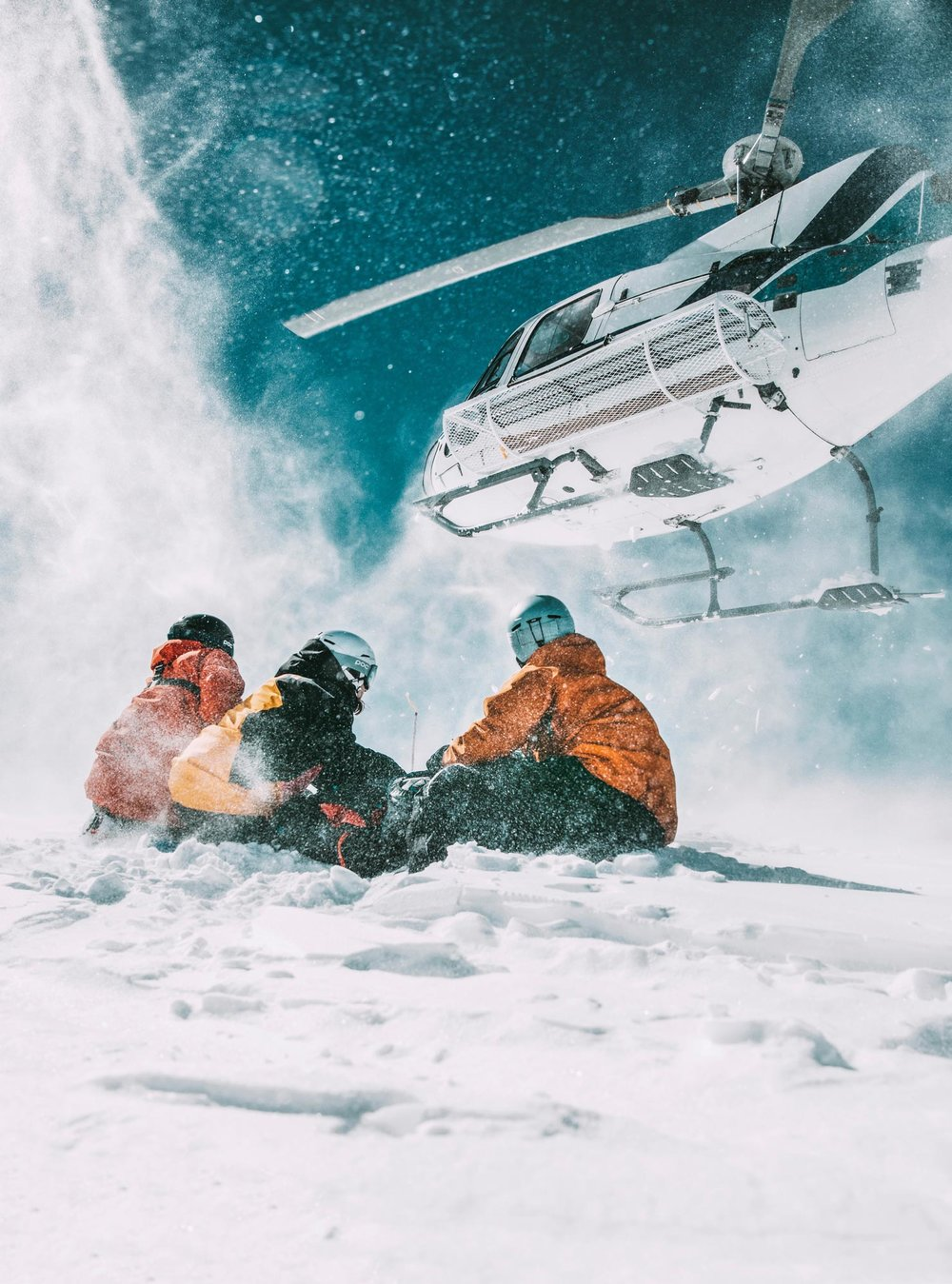 heliskiing in kashmir - gusav wiking for poc / skarp photography