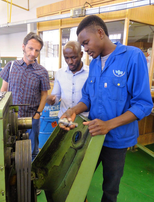Patrick Zeiger, Instruktor und Lernender, VTC Windhoek, Maschinenabteilung.jpg