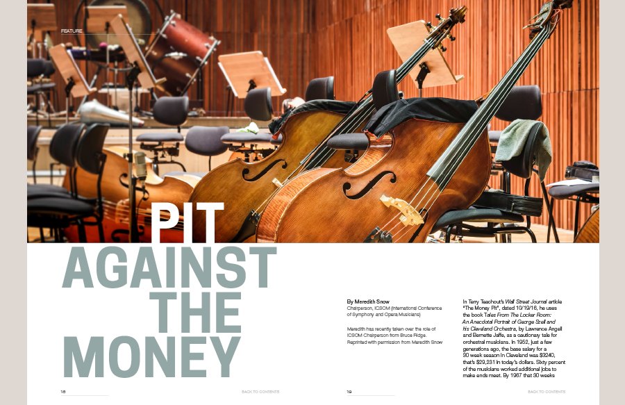 Publication for the Symphony Orchestra Musicians Association