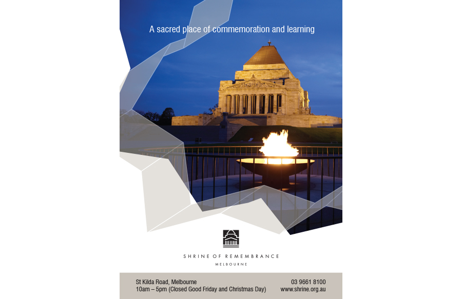 Ad design for Shrine of Remembrance