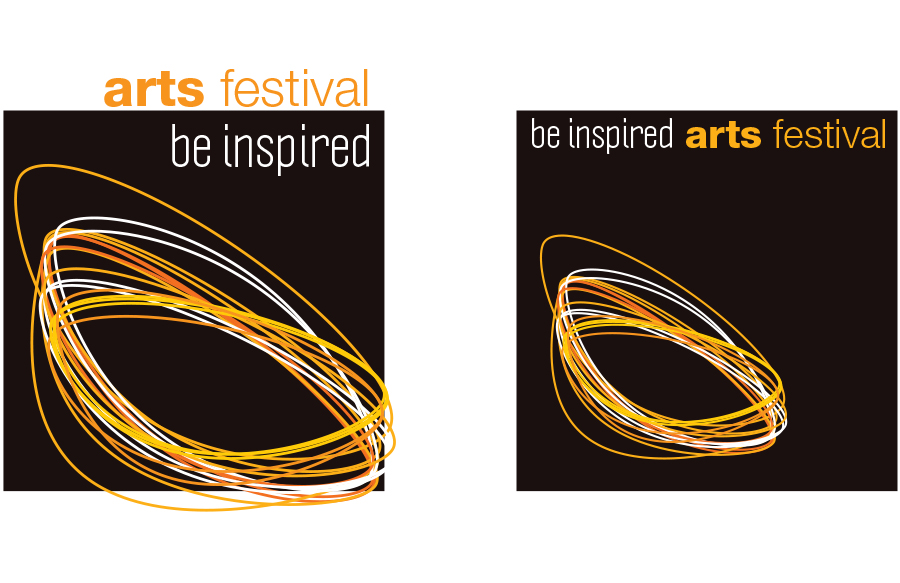Logo for arts festival with the theme of light