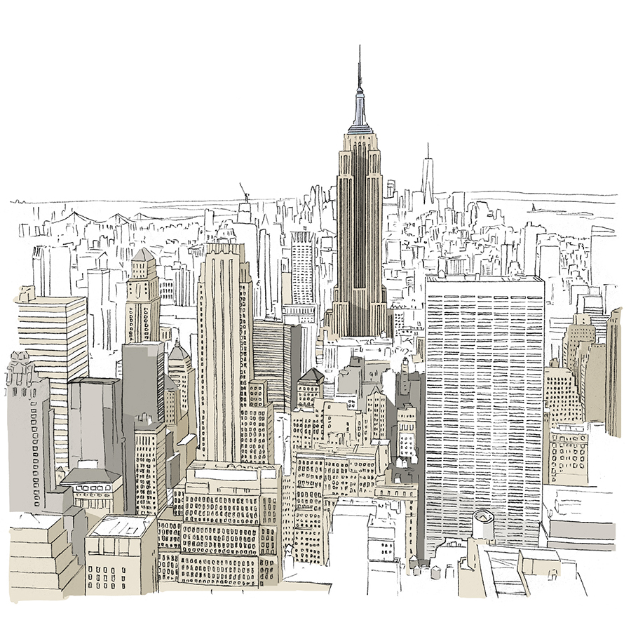New York Empire Building sketch