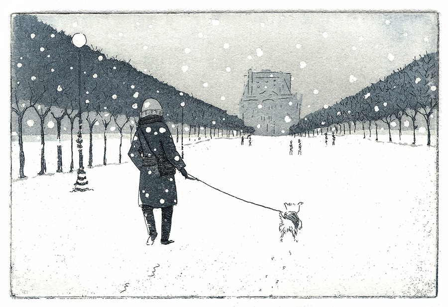 Paris under snow: Tuileries