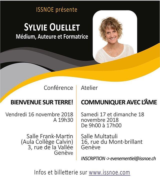 J-10 conférence et atelier avec Sylvie Ouellet à Geneve! #geneve #geneva #medium #auteure #ame #suisse #switzerland #swiss #conference #2018