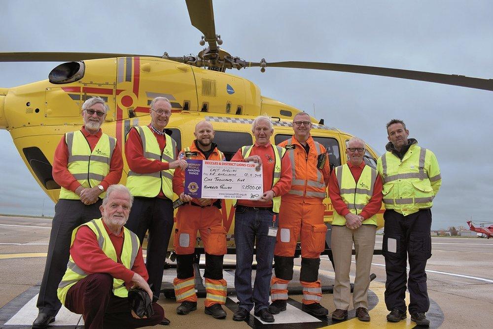 Beccles Lions Air Ambulance Cheque presentation.jpg