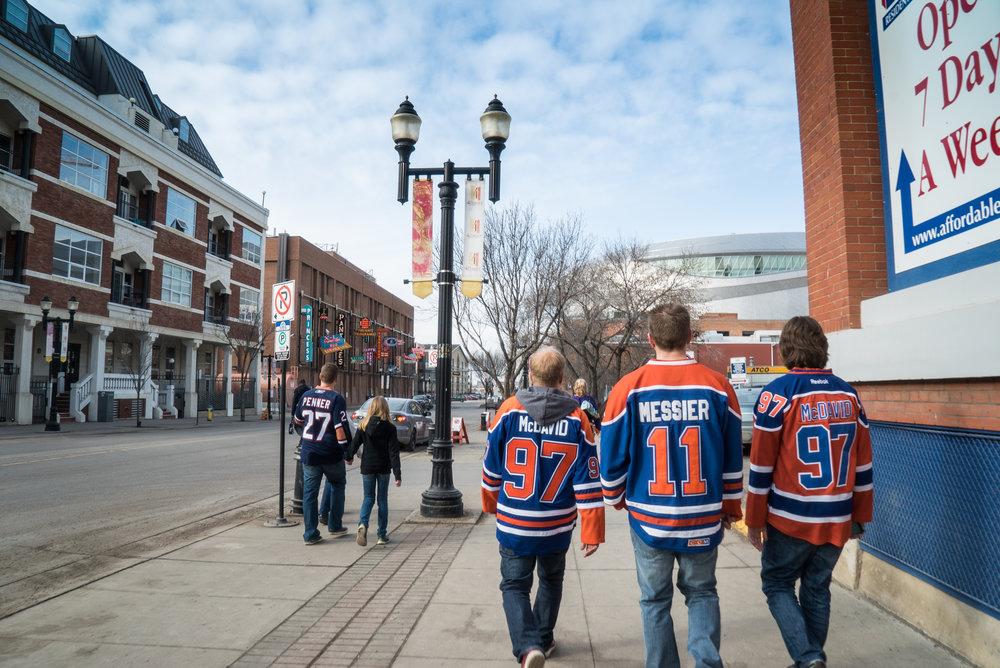 Edmonton Oilers Fans 104th Street