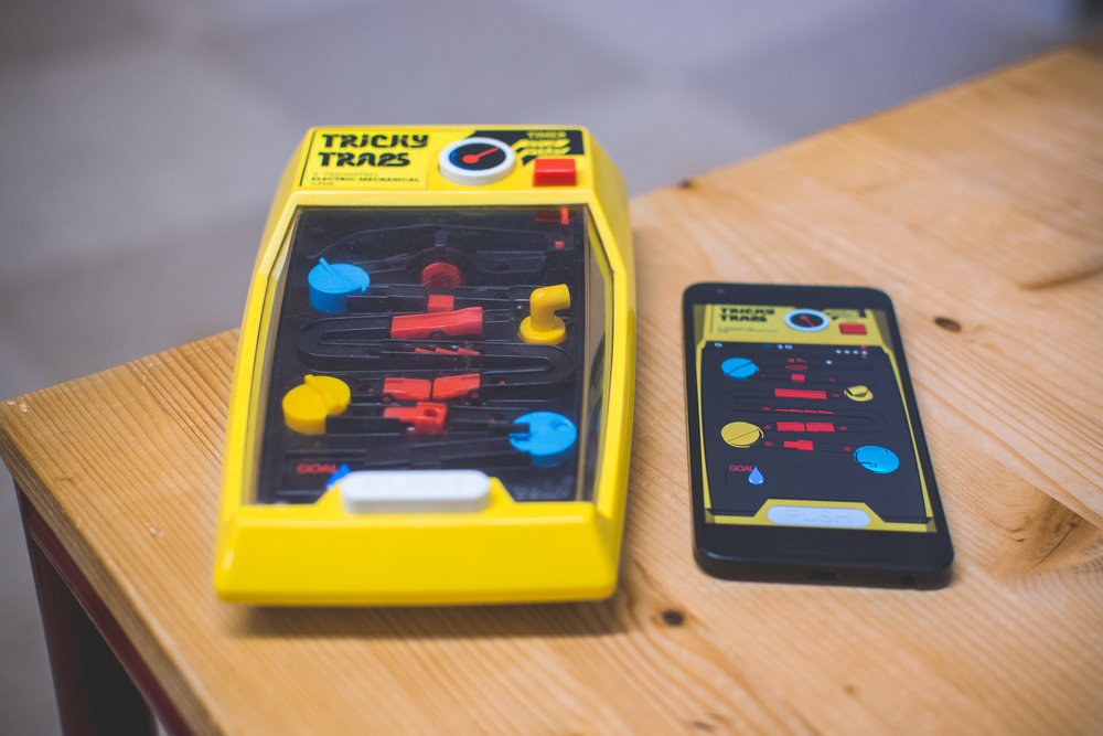 Tricky Traps: the Videogame - It's our first game ever. It's an app replica of the world-famous vintage Tricky Traps. It's available for iOS and Android.
