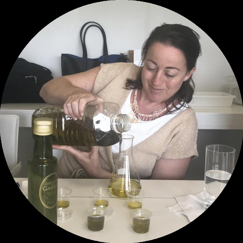 Learning to make olive oil at Bodega Garzon, in Uruguay