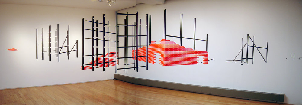 New City, 2008, Tape, Dimensions Variable (approx 10' x 16' x 12')