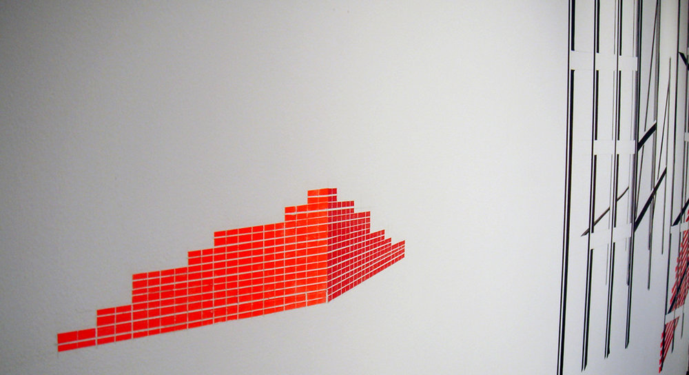 New City (detail), 2008, Tape, Dimensions Variable (approx 10' x 16' x 12')