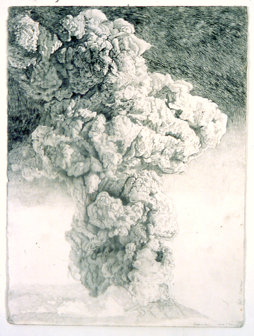 Mt. Pinatubo, 1999-2000, Graphite on Paper,  30 x 22 inches, Artist Collection