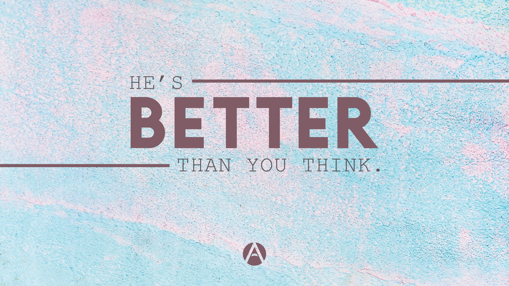 He's BETTER than you think. - Andrew Znachko from Antioch Indianapolis redefines sin and God's view of it in this powerful message on the story of Adam & Eve.