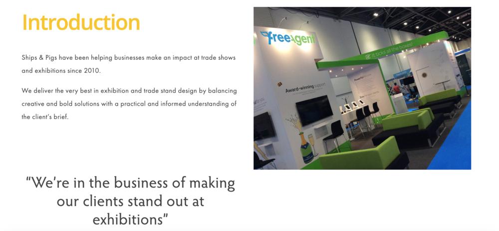 Website Exhibition Stand Design Copy