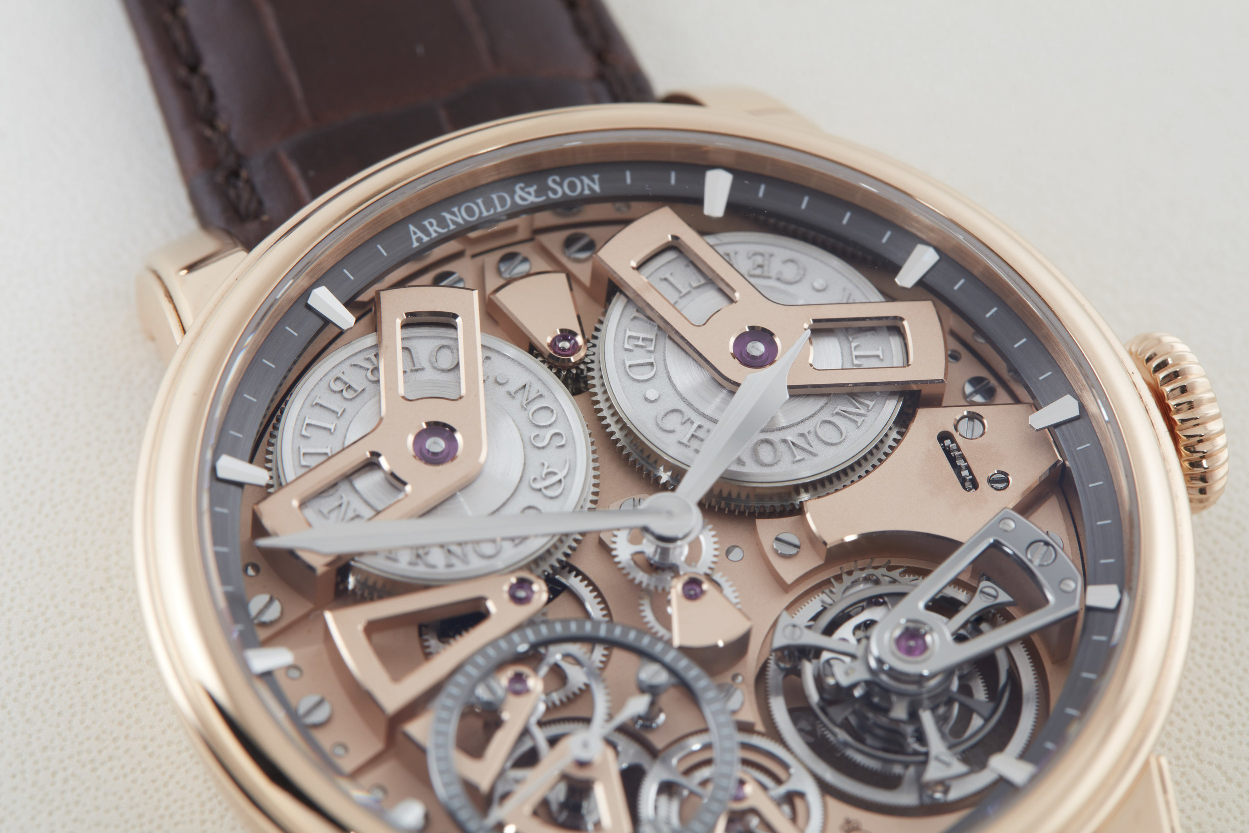 Arnold & Son Tourbillon Chronometer No. 36 in red gold