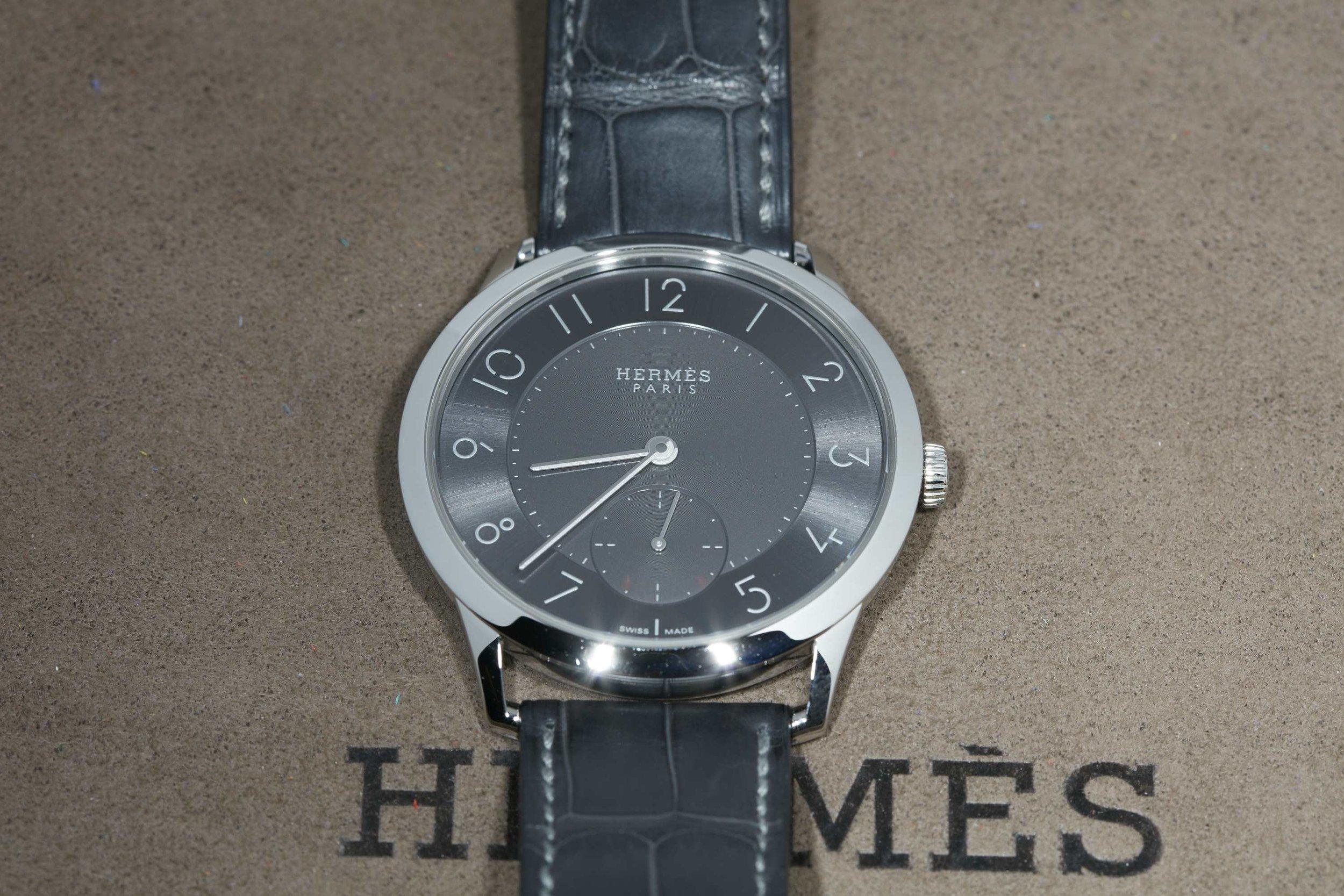 Slim d'Hermès gray dial
