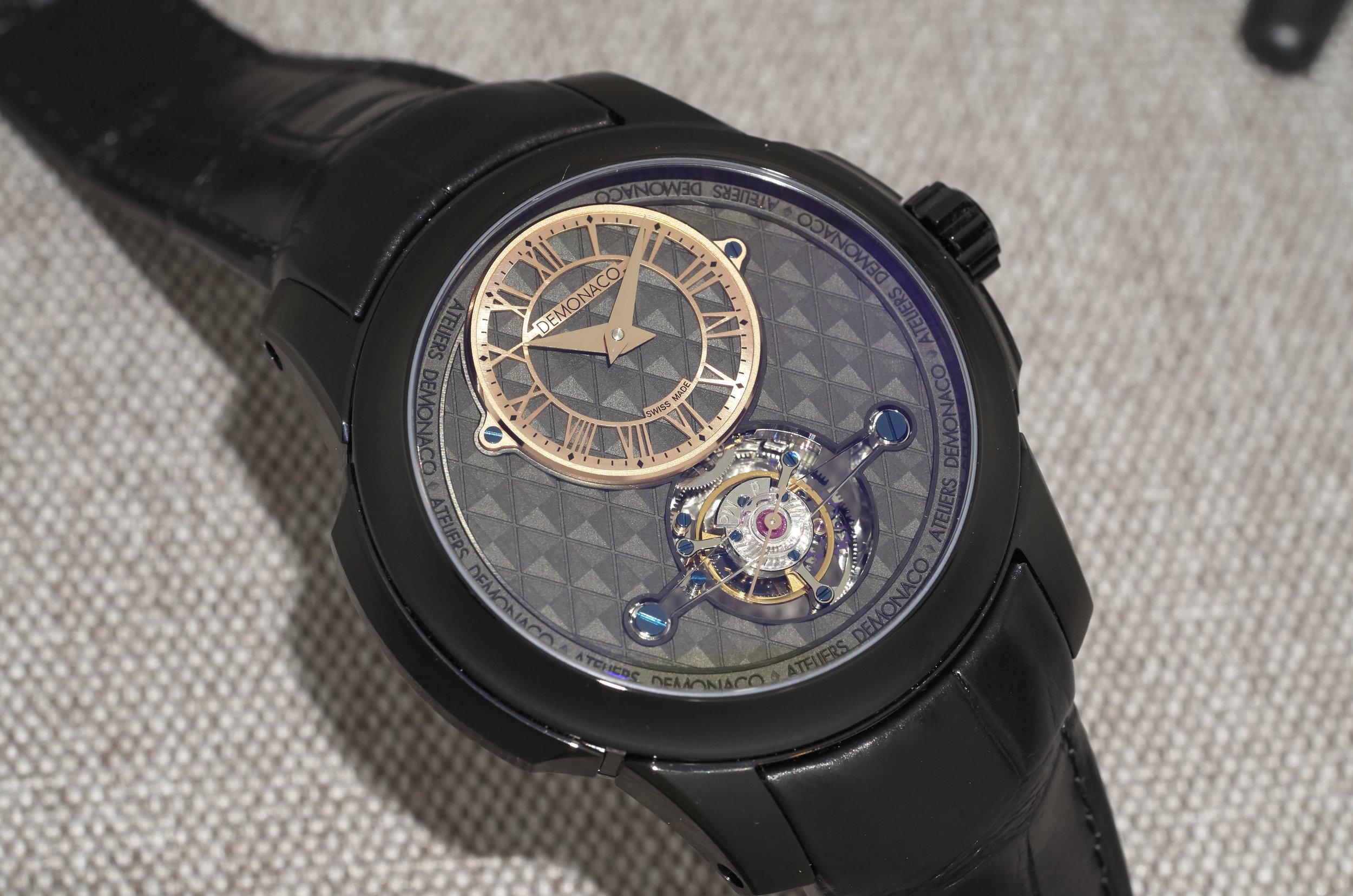 Ateliers de Monaco tourbillon with laser-etched dial