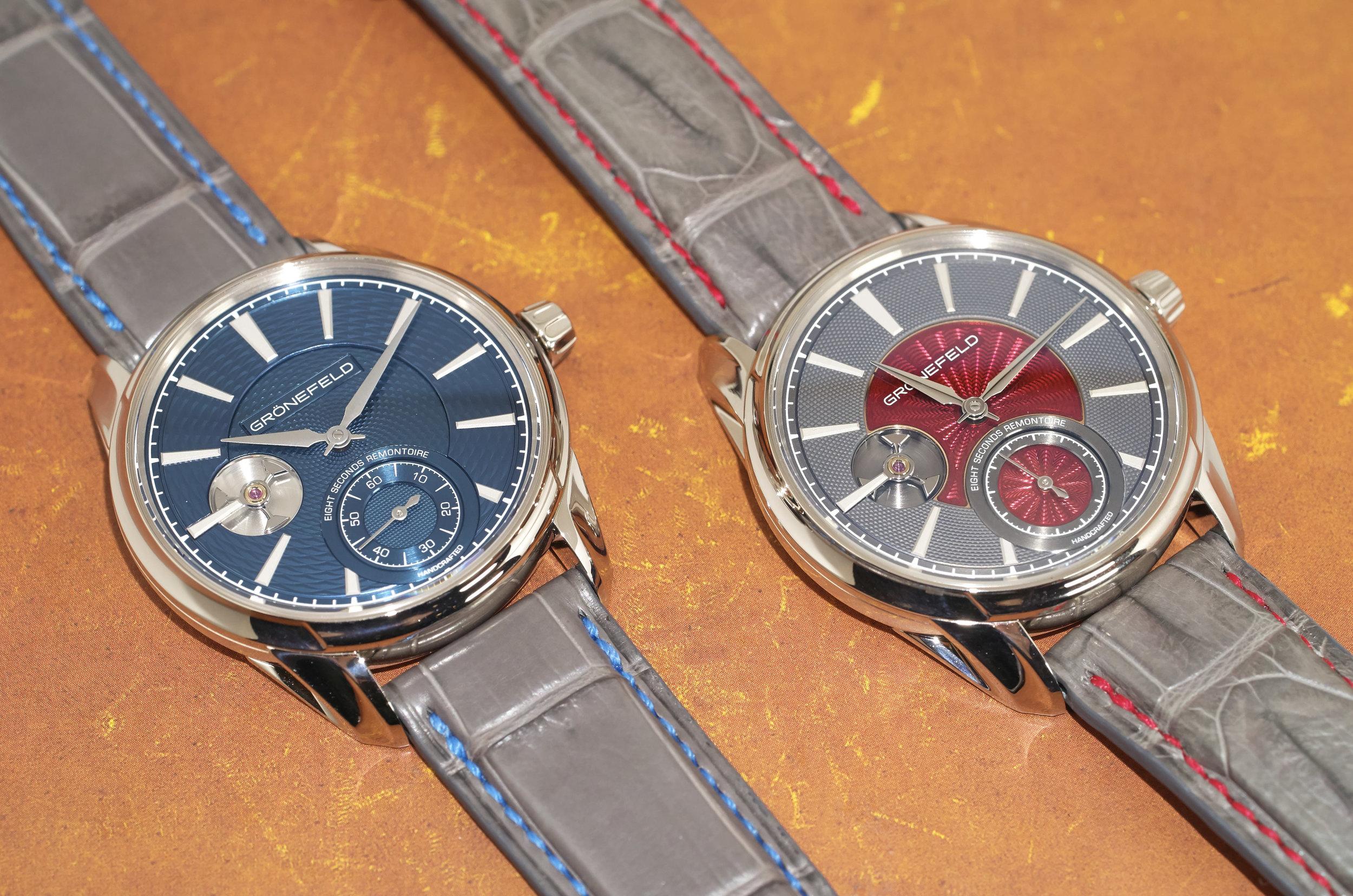 Grönefeld 1941 Remontoire with guilloche dials