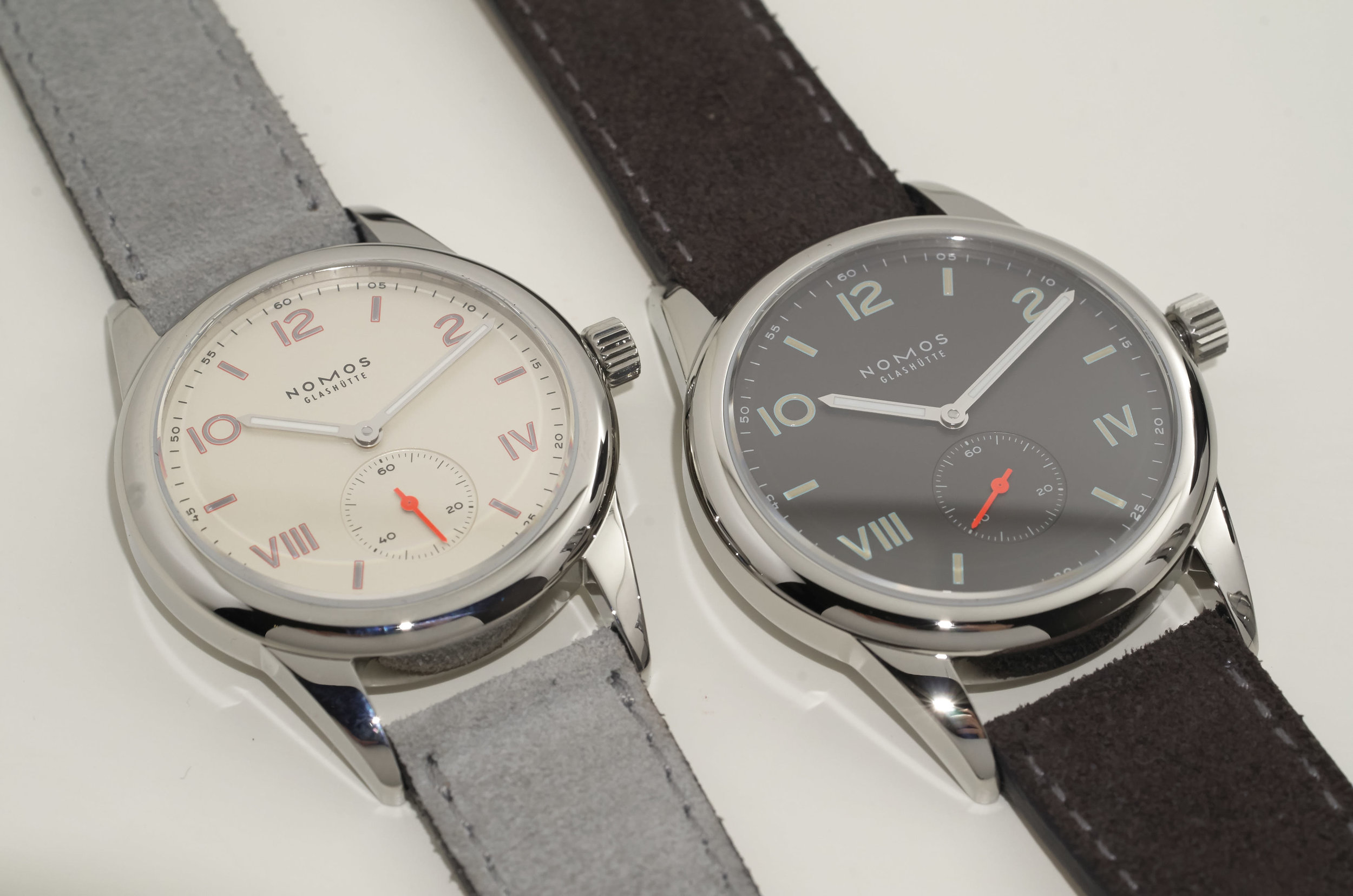 Nomos Club Campus ($1,500) and Nomos Club 38 Campus Nacht ($1,650)
