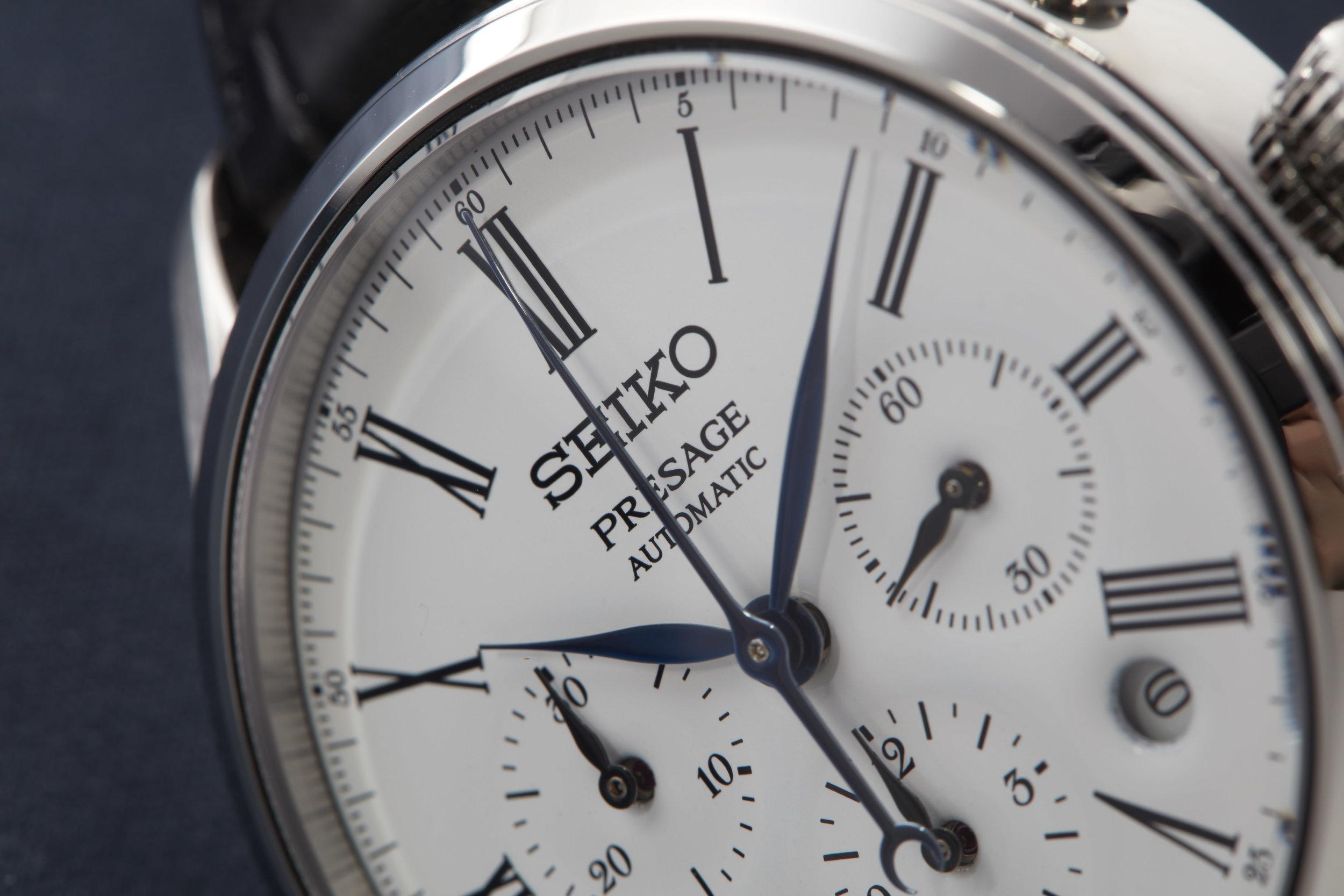 Seiko Presage Enamel Automatic Chronograph