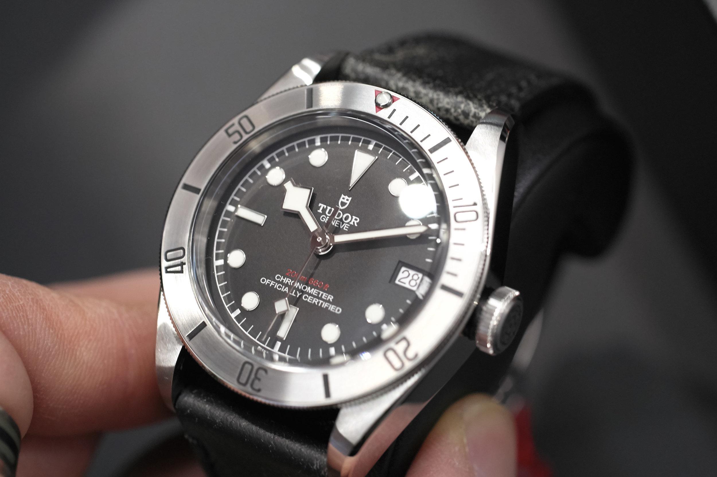 Tudor Black Bay Steel on leather strap