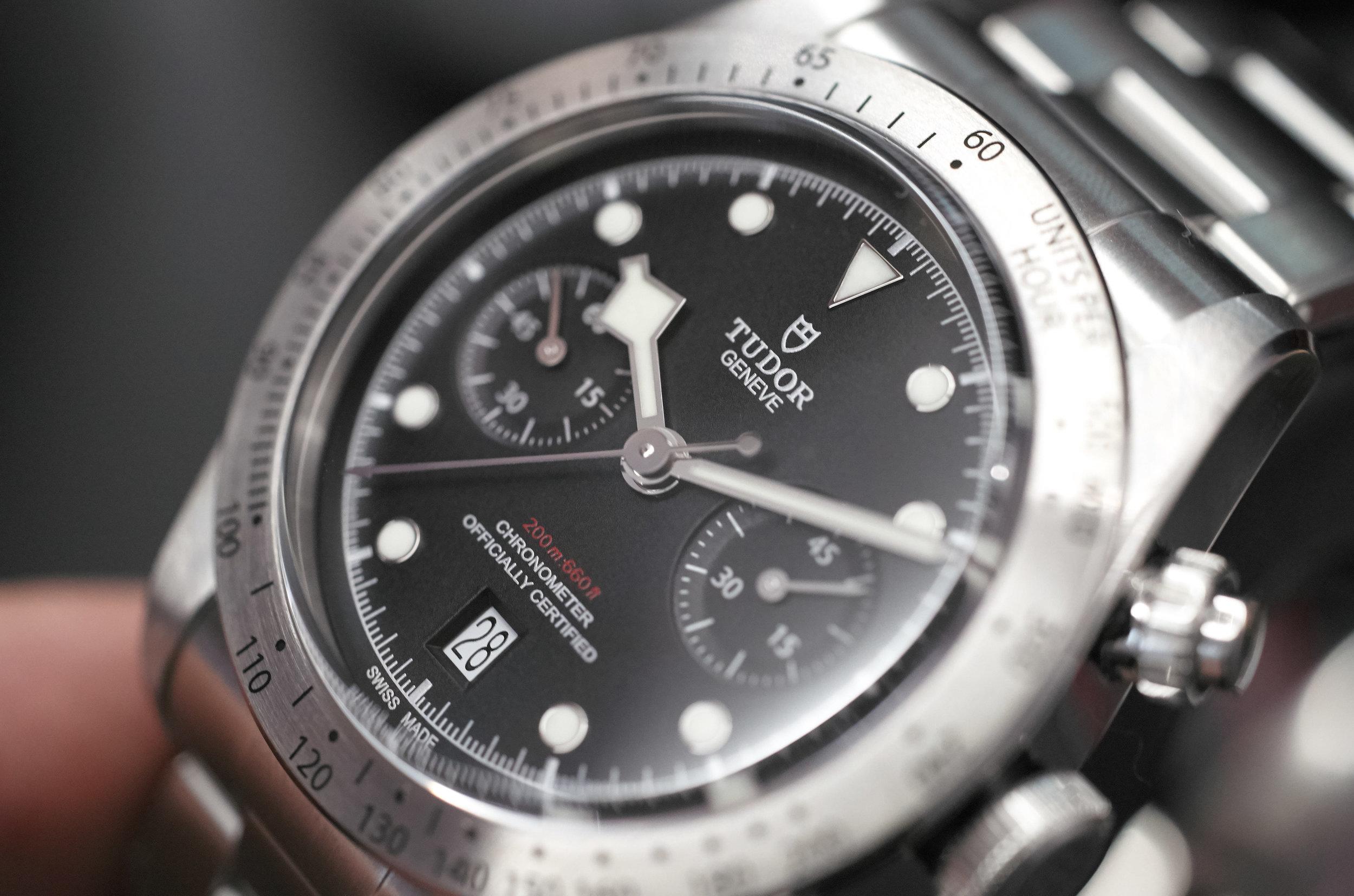 Tudor Black Bay Chronograph on bracelet