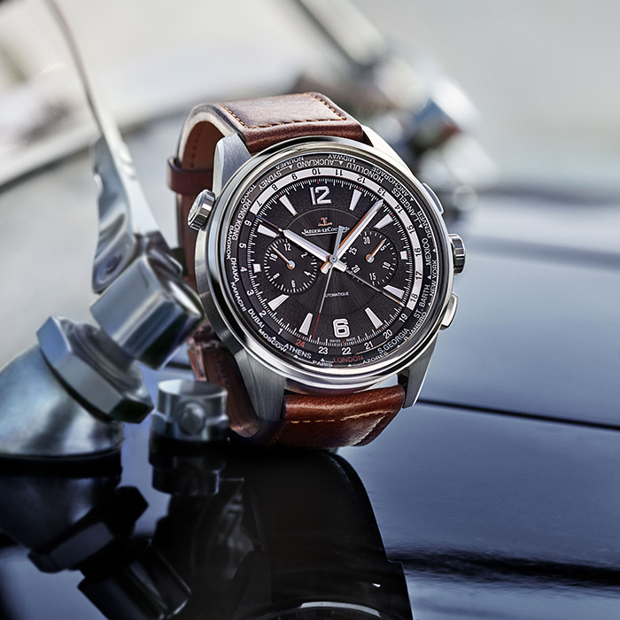 The Polaris Chronograph WT has a world time function that displays 24 different time zones simultaneously.