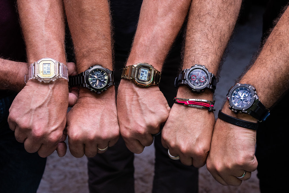 Watches on the wrists of RedBar members