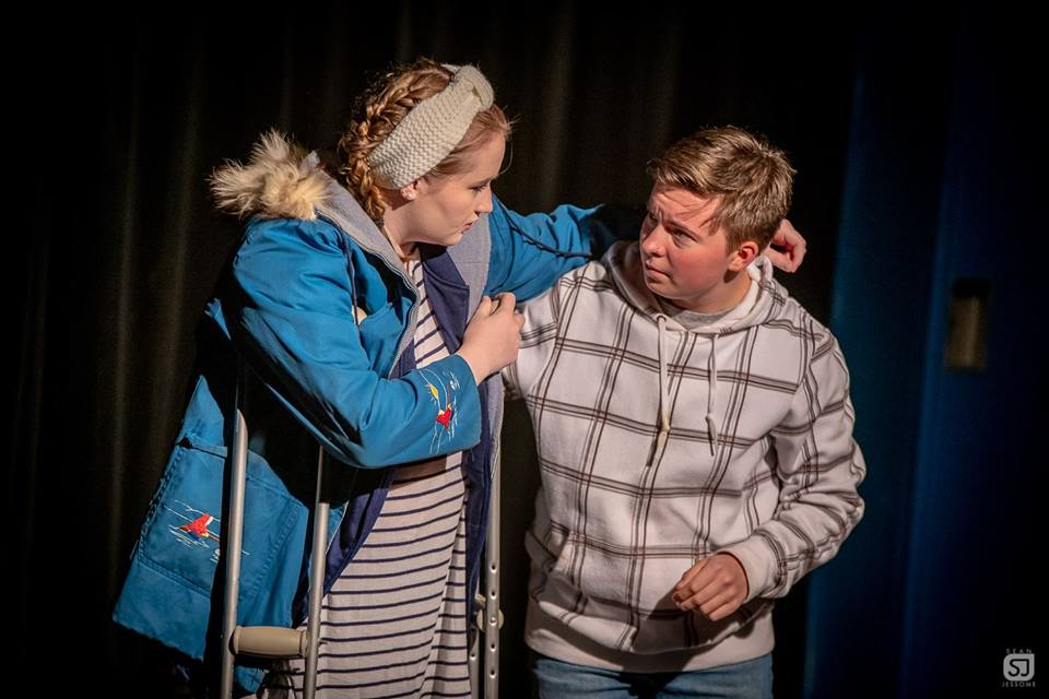 Caitlin Harte (Grace) and Fionn Shea (Gregory) courtest of Sean Jessome Photography.