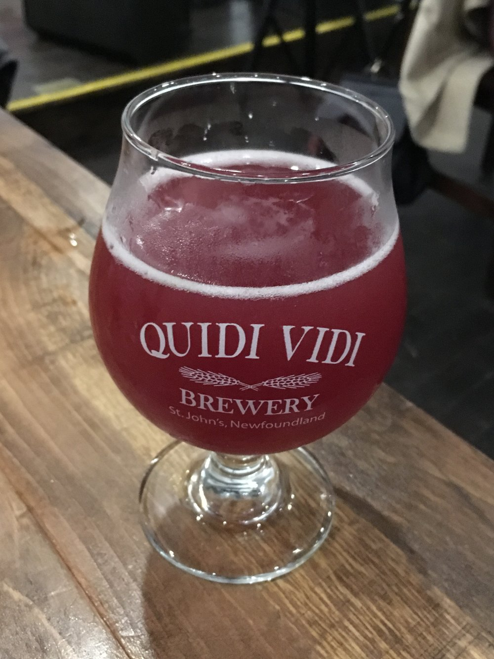 Open Saison on Blueberry, available at the Quidi Vidi taproom.